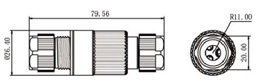 ST-02 IP68 Waterproof Connector-D1