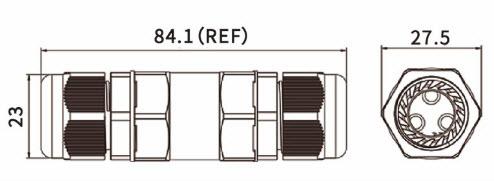 ST-05 IP68 Waterproof Connector – Screw Type-D1
