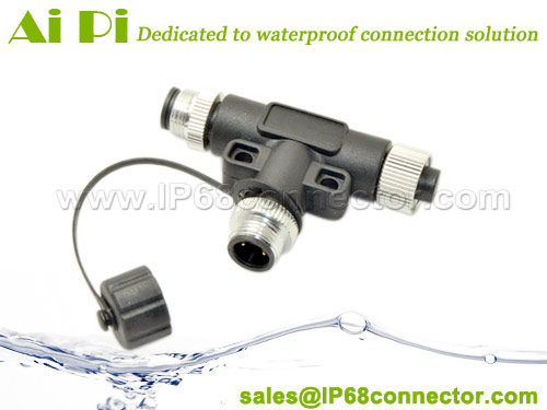 M12-A-T1 M12 Waterproof T Connector
