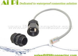 RJ-01 Waterproof RJ45 Connector Connector With Cable