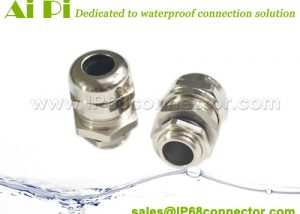 JB-04 Waterproof Cable Gland - Nickel Plated Brass