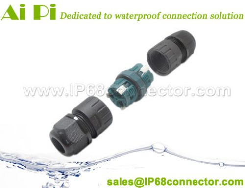 ST-13: Inline Waterproof Cable Connector-Lever Lock