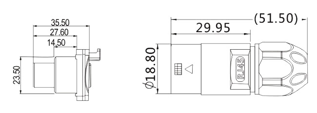 RJ-04-Waterproof-RJ45-CAT6-Panel-Mount-Coupler-dimension-2