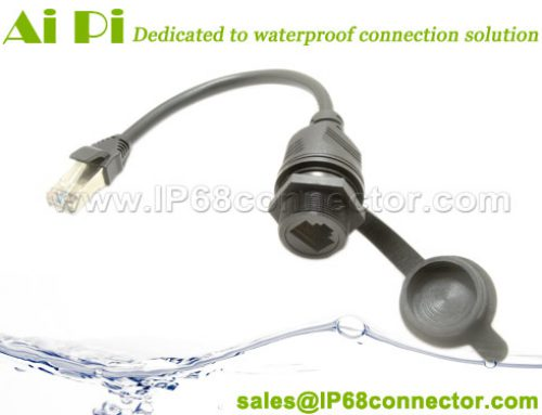 RJ-05: Waterproof overmolded RJ45 Panel Mount to RJ45 Cable