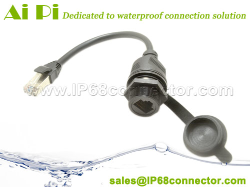 RJ-05-Waterproof-overmolded-RJ45-Female-Panel-Mount-to-RJ45-Male-Cable