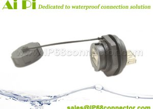 USB-01-Waterproof-USB2.0-B-Female-to-A-Female-Panel-Mount-Connector