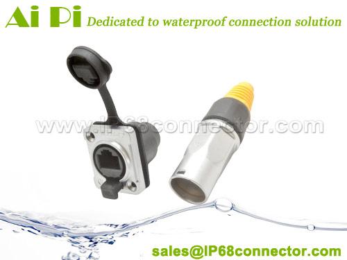 RJ-06 Waterproof RJ45 Signal Connector