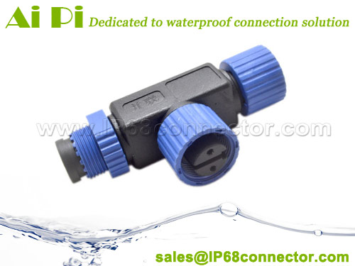 M15-02T T Type Waterproof Cable Connector-2