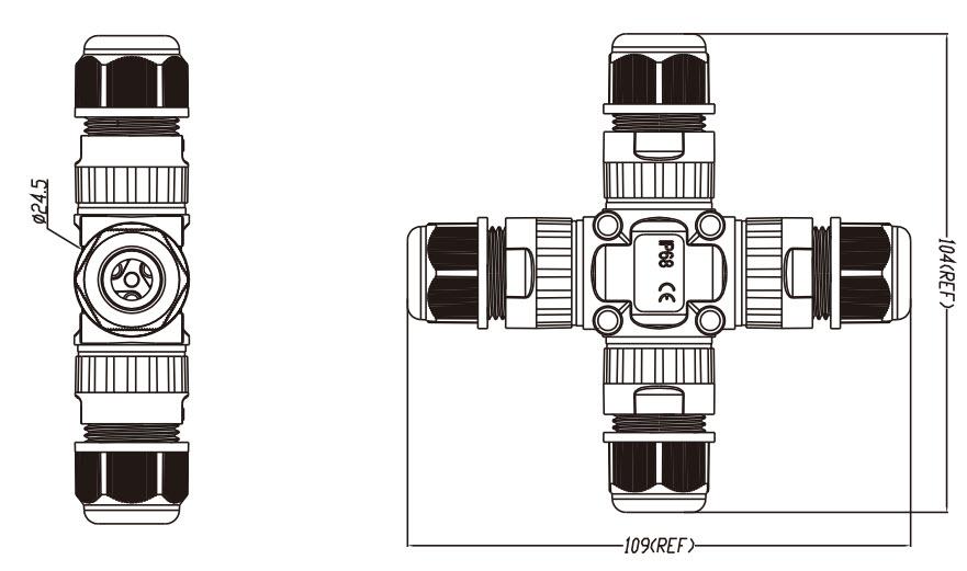 ST-15 IP68 X-Splitter Outdoor Waterproof Connector-D