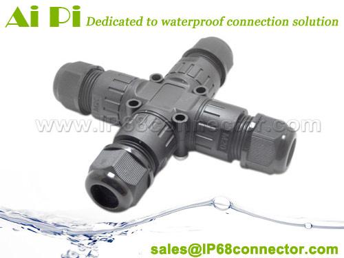 ST-15: IP68 X-Splitter Outdoor Waterproof Connector