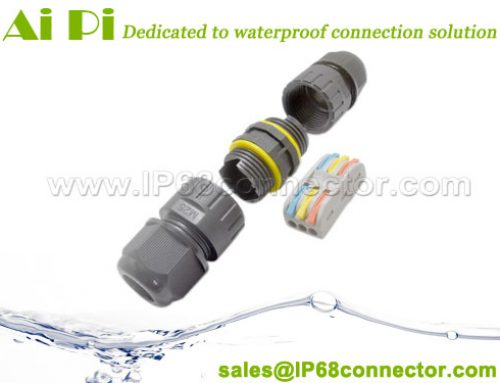 ST-16: Waterproof Cable Connector with Lever-Nut Wire Terminal