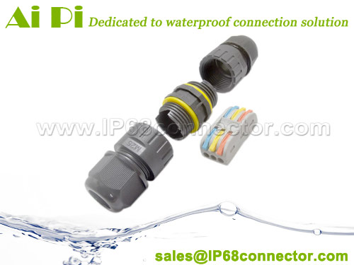 ST-16 Waterproof Outdoor Cable Connector with Lever-Nut Wire Terminal