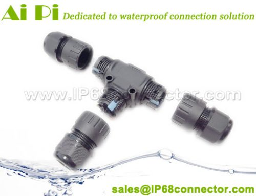 ST-17: Waterproof T Cable Connector with Lever Lock Design